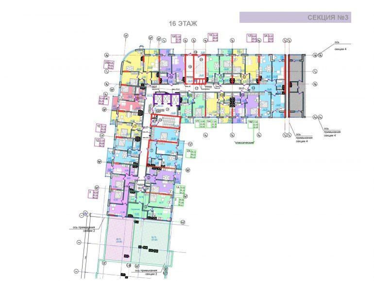 ЖК Таировские сады 3 секция 16 этажи
