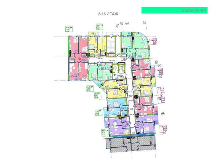 ЖК Таировские сады 4 секция 2-16 этажи