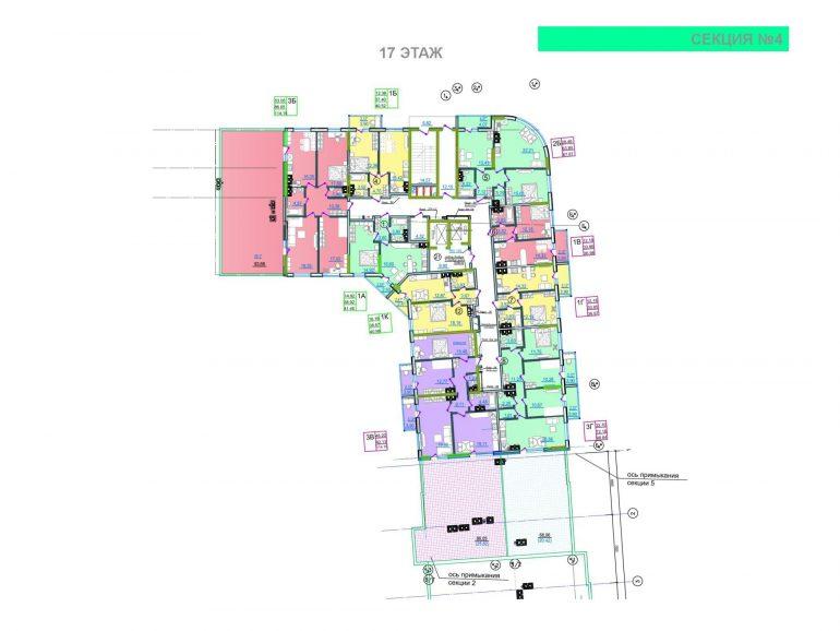 ЖК Таировские сады 4 секция 17 этаж