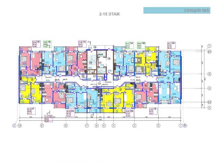 ЖК Таировские сады 5 секция 2-15 этажи