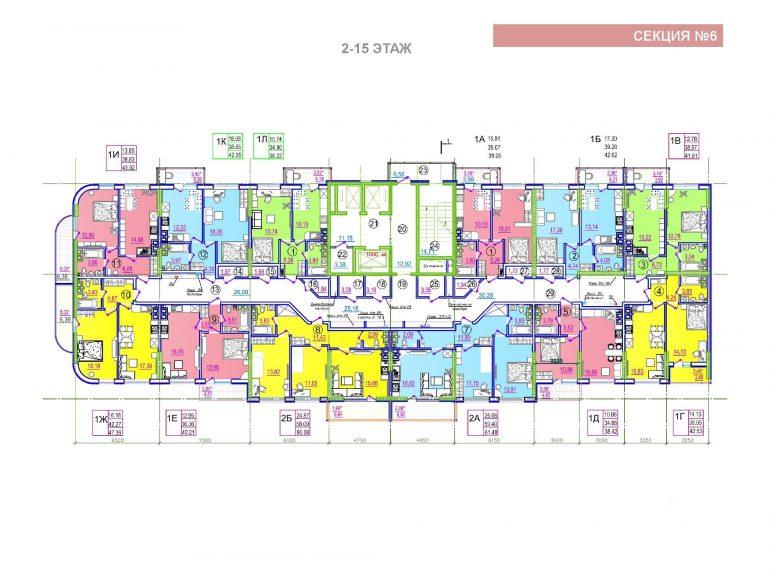ЖК Таировские сады 6 секция 2-15 этажи