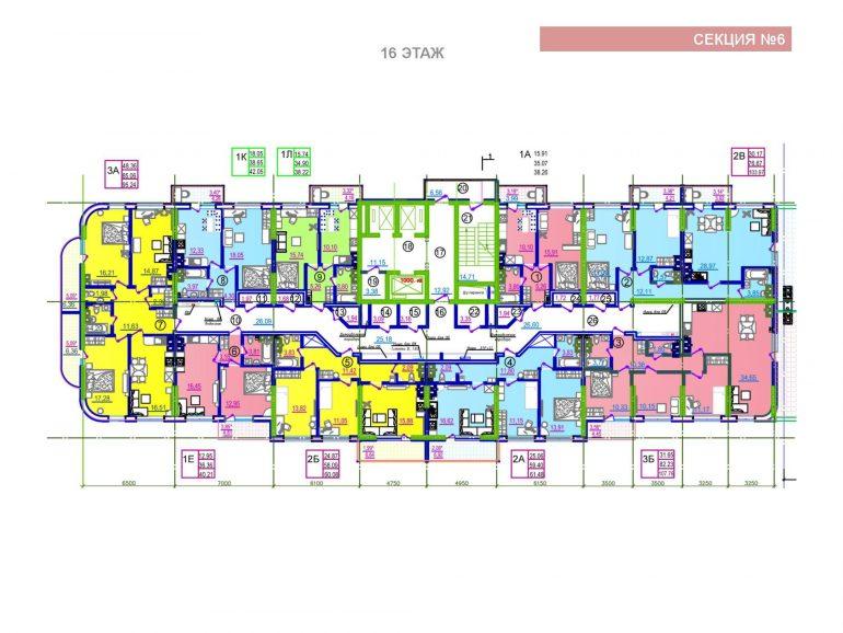 ЖК Таировские сады 6 секция 16 этаж