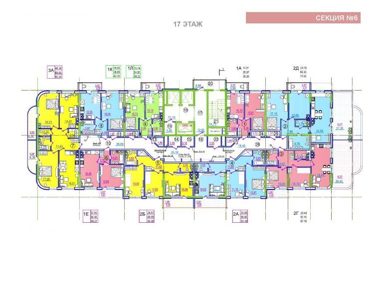 ЖК Таировские сады 6 секция 17 этаж