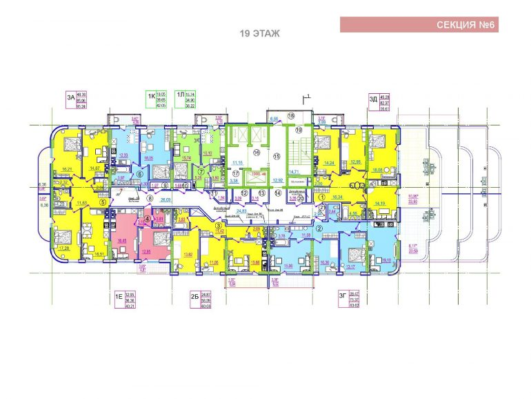 ЖК Таировские сады 6 секция 19 этаж