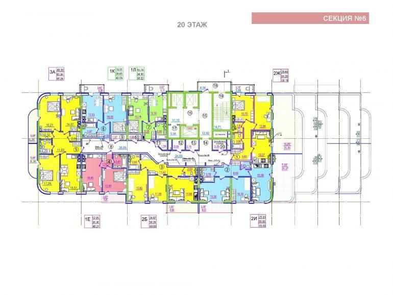 ЖК Таировские сады 6 секция 20 этаж