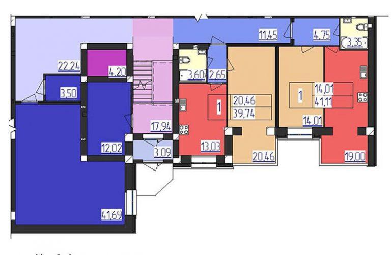 ЖК Форрест 1 секция 1 этаж