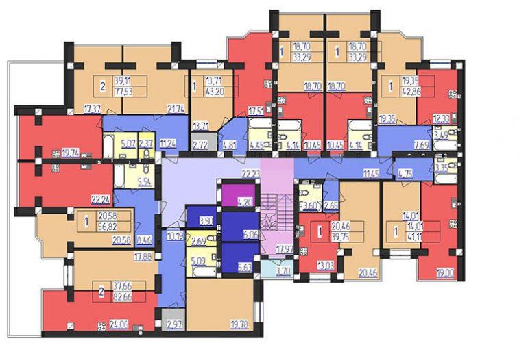 ЖК Форрест 1 секция 2-4 этажи