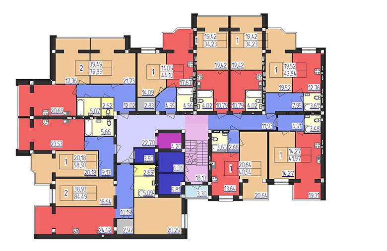 ЖК Форрест 1 секция 5-10 этажи