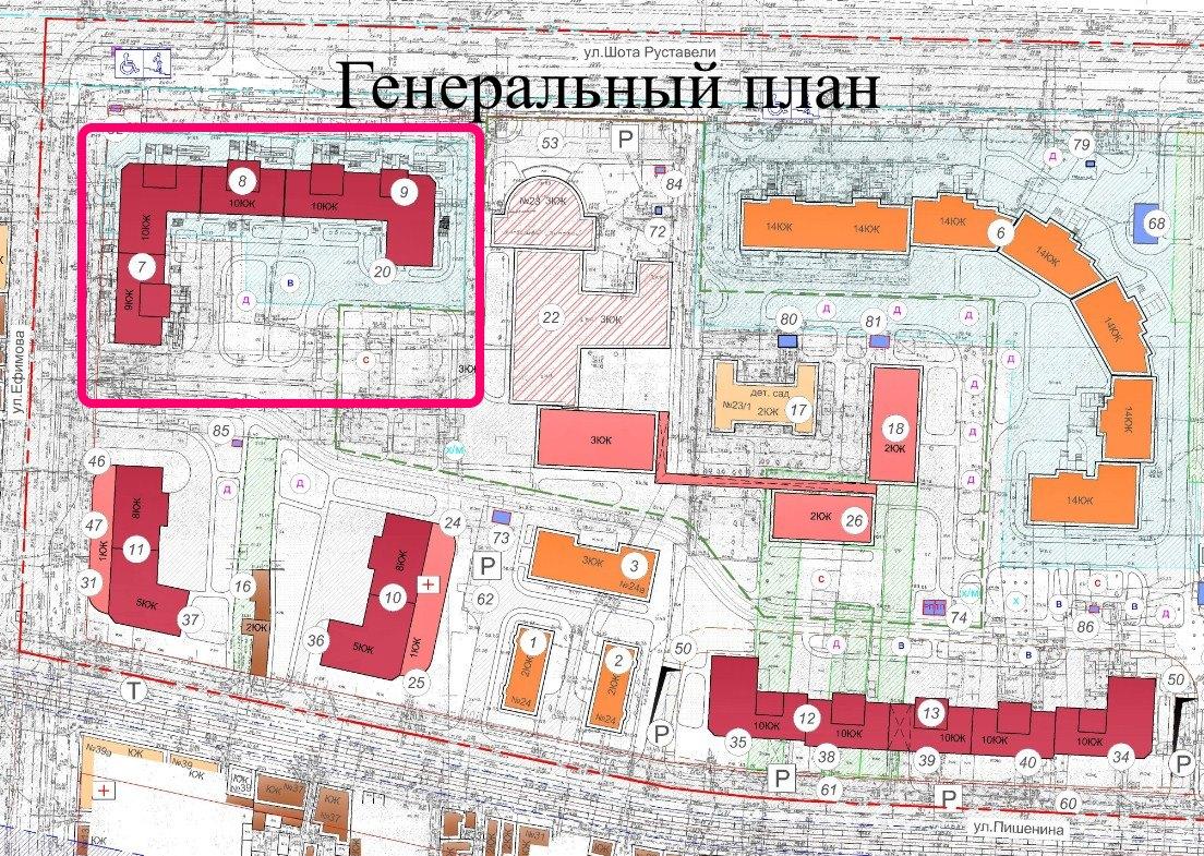 ЖК на Ефимова СК Одесстрой Новострой в Одессе генплан