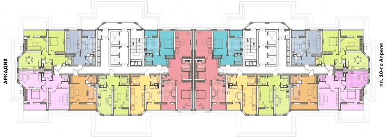 ЖК Элегия Парк План типового этажа