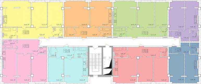 Клаб-Марин 2 очередь Планировка этажа, Секция 8