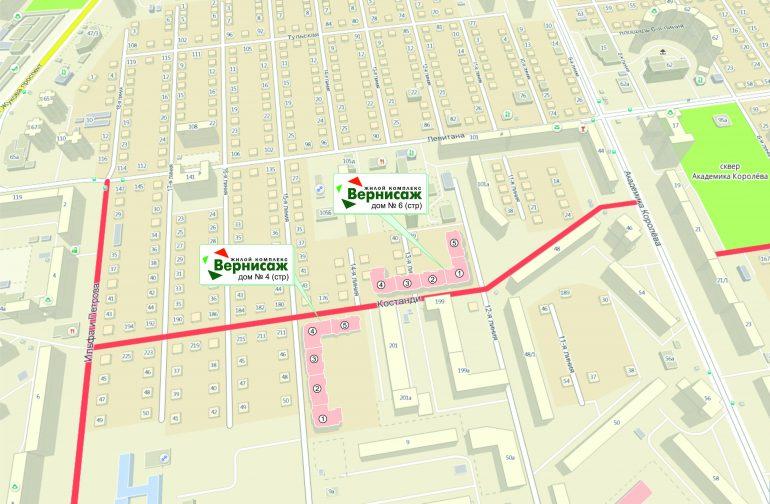 ЖК Вернисаж. Карта комплекса