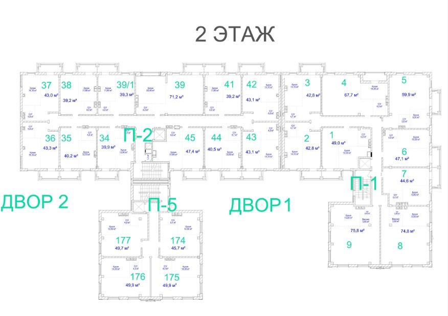 ЖК Авторский. 3 очередь. 2 этаж