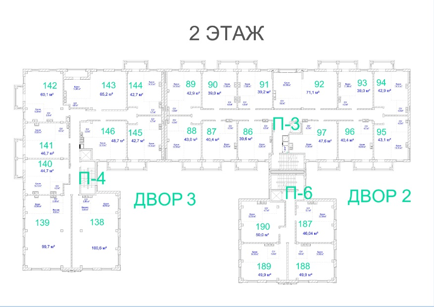 ЖК Авторский. 2 очередь. 2 этаж