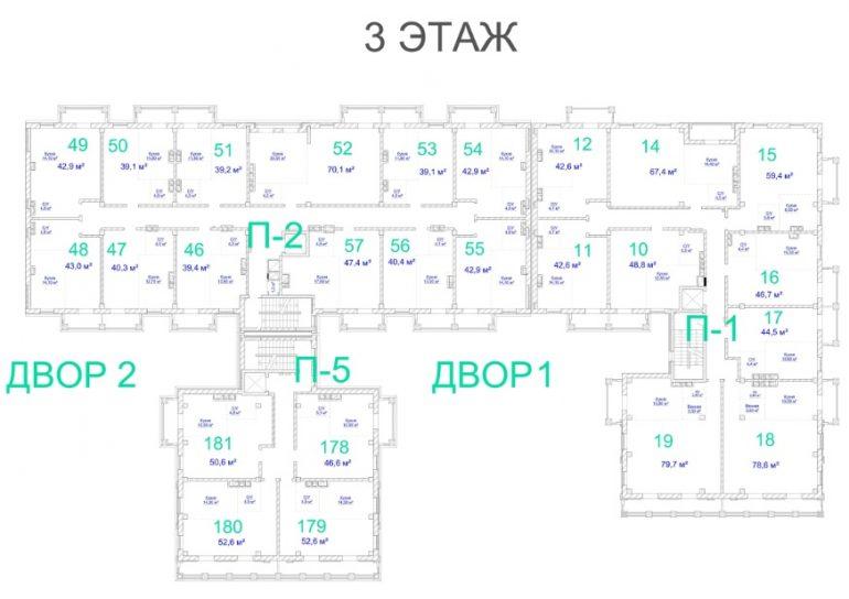 ЖК Авторский. 3 очередь. 3 этаж