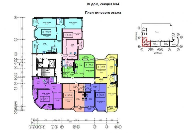 ЖК Вернисаж. 4 дом, секция 4