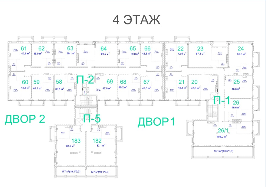 ЖК Авторский. 3 очередь. 4 этаж
