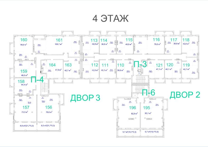 ЖК Авторский. 2 очередь. 4 этаж