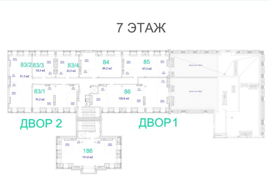 ЖК Авторский. 3 очередь. 7 этаж