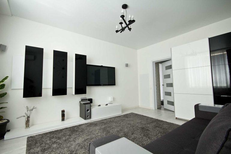 Гостинная-спальня в стиле хай-тек ЖК Гольфстрим