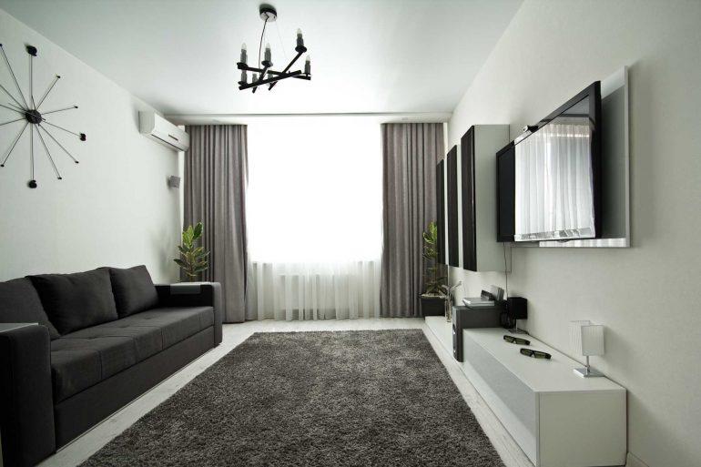 Гостинная-спальня в стиле хай-тек