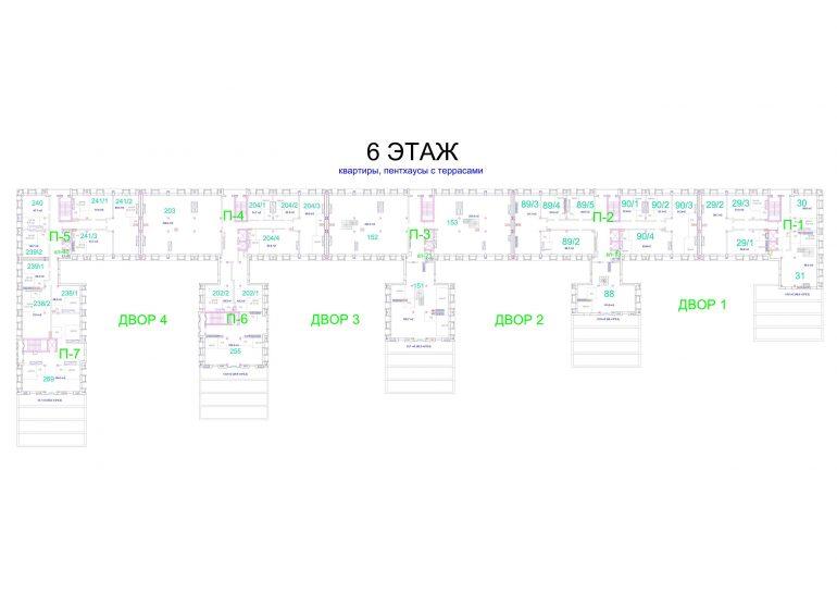 ЖК Авторский. 1 очередь. 6 этаж
