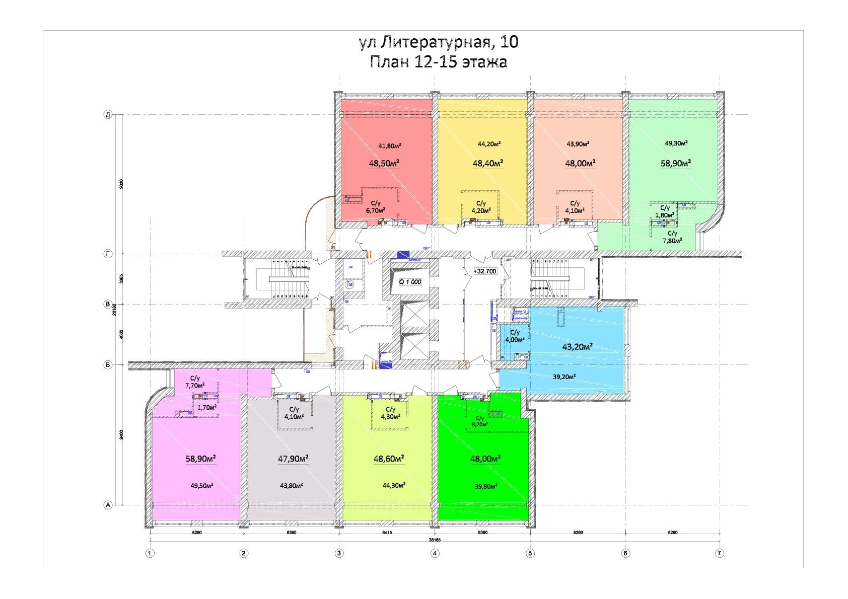 ЖК Орион План 12-15 этажей