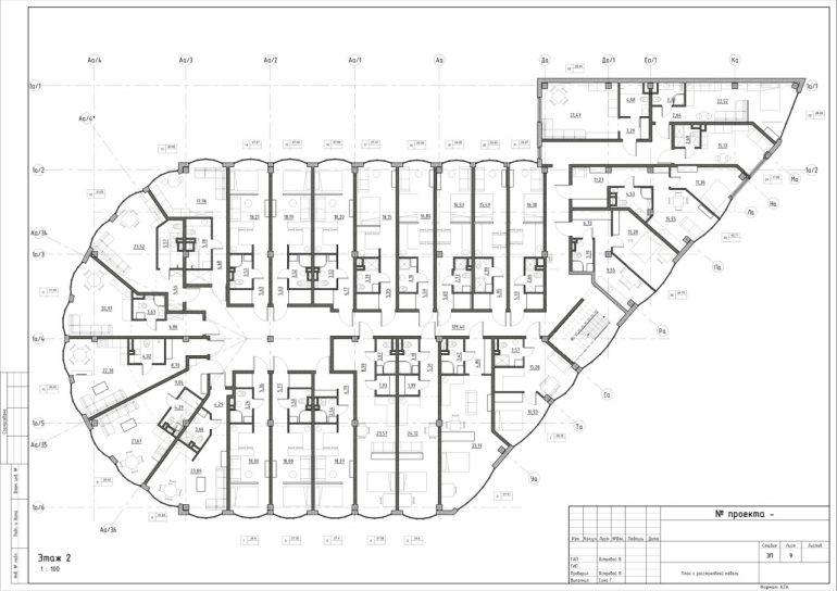 The Apartments. План 2-го этажа