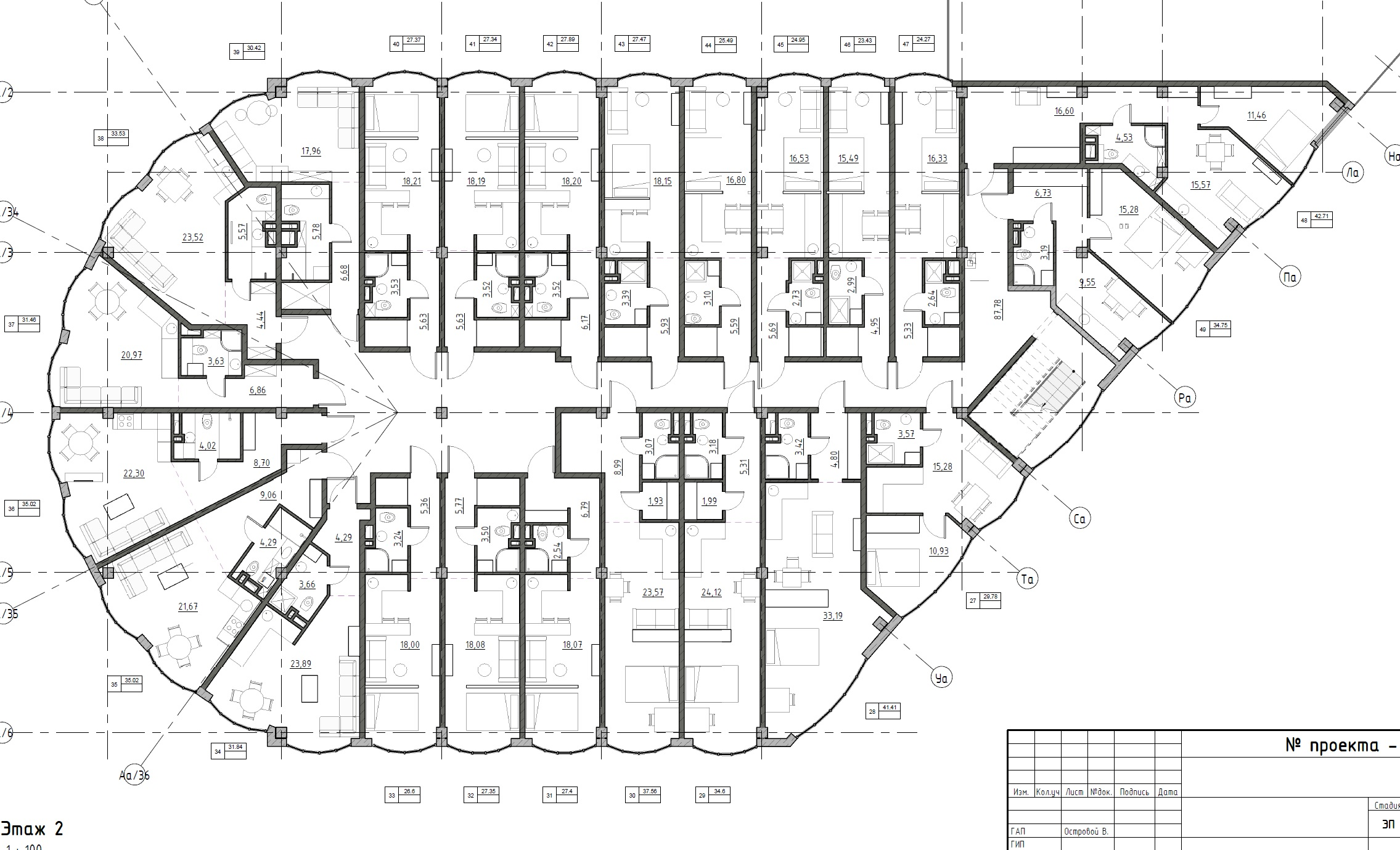 The Apartments. План 3-го этажа