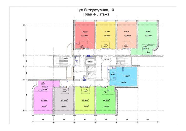 ЖК Орион План 4-6 этажей