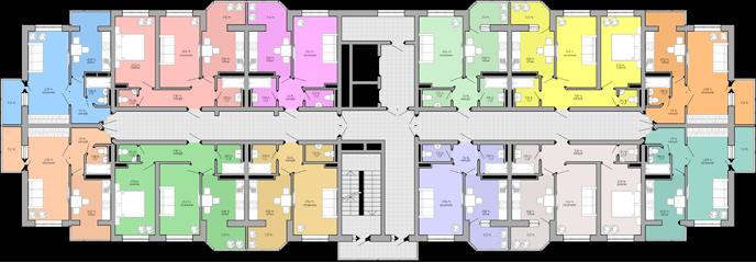 ЖК Акварель Дом 1 План типового этажа