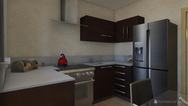 ЖК Два академика Однокомнатная Площадь 31,85 Дизайн кухни