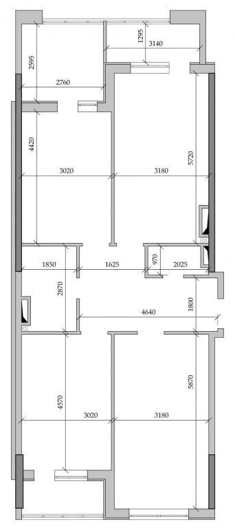 89,67 кв.м ЖК Таировские сады 2 секция Трехкомнатная Планировка 1