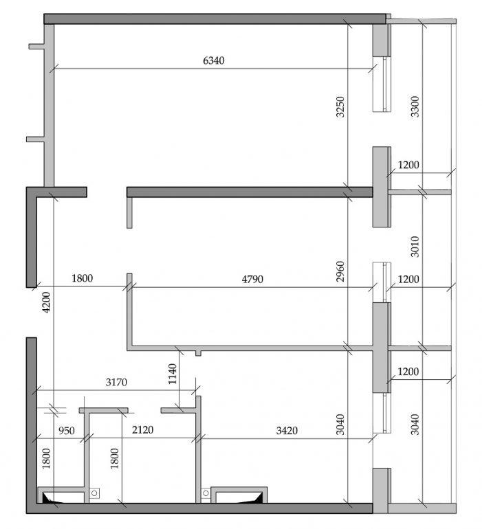 Таировские сады 1 очередь Двухкомнатная 64,7 Планировка 2