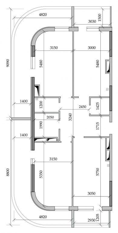 ЖК Таировские сады Трехкомнатная Площадь 99,61 кв.м планировка