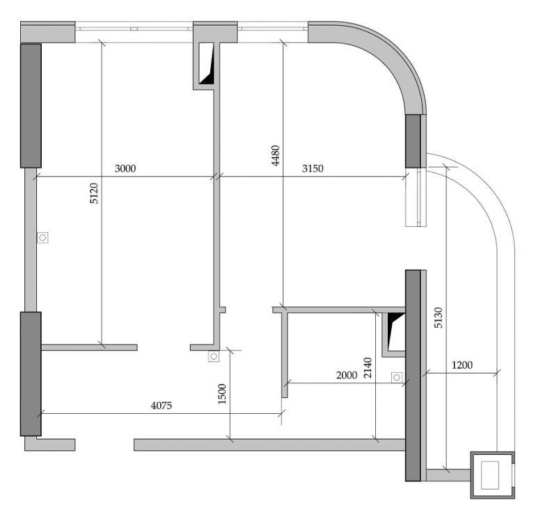 41,68 кв.м ЖК Таировские сады 1 секция Планировка 1