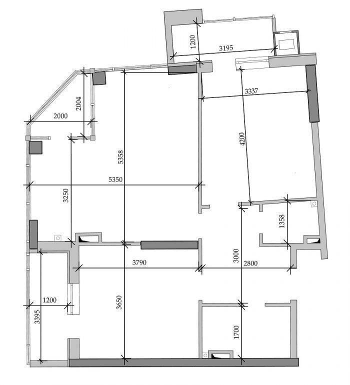 ЖК Таировские сады 4 секция Двухкомнатная 69,73 Планировка 1