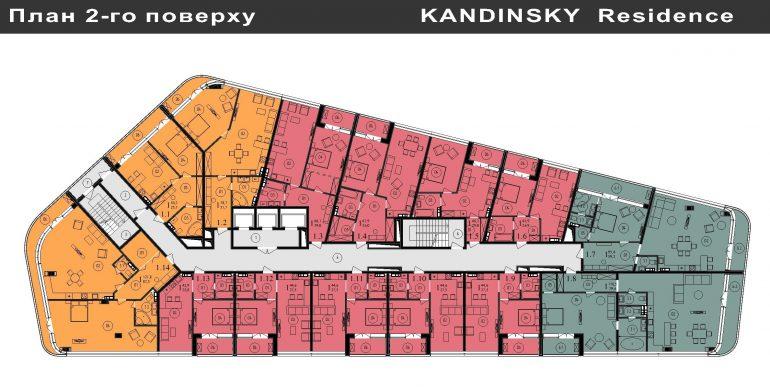 ЖК Кандинский План 2-го этажа
