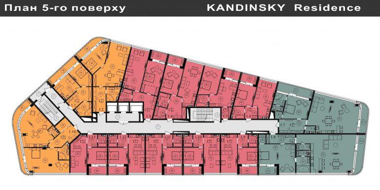 ЖК Кандинский План 5-го этажа