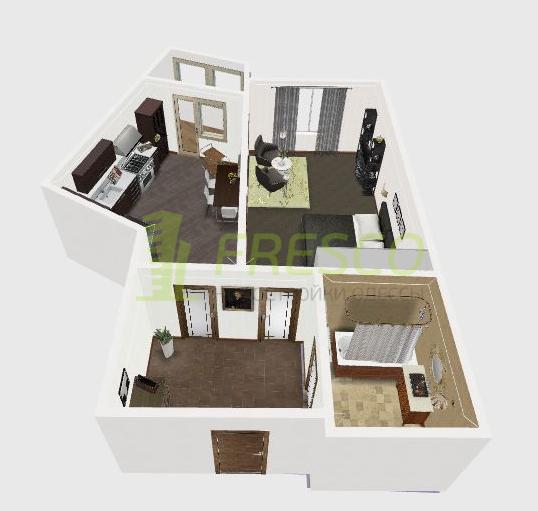 ЖК Милос Однокомнатная Площадь 67,4 Дизайн спальни