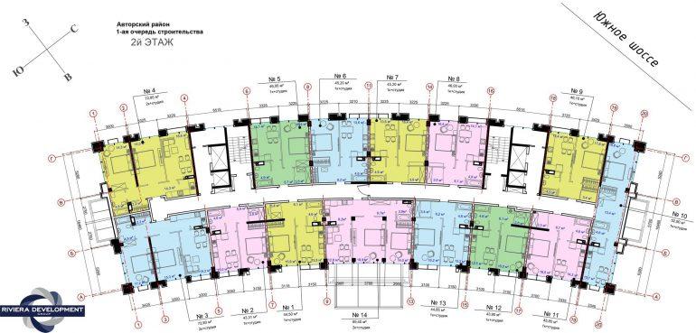 ЖК Авторский район 1 очередь Планировка 2 этажа
