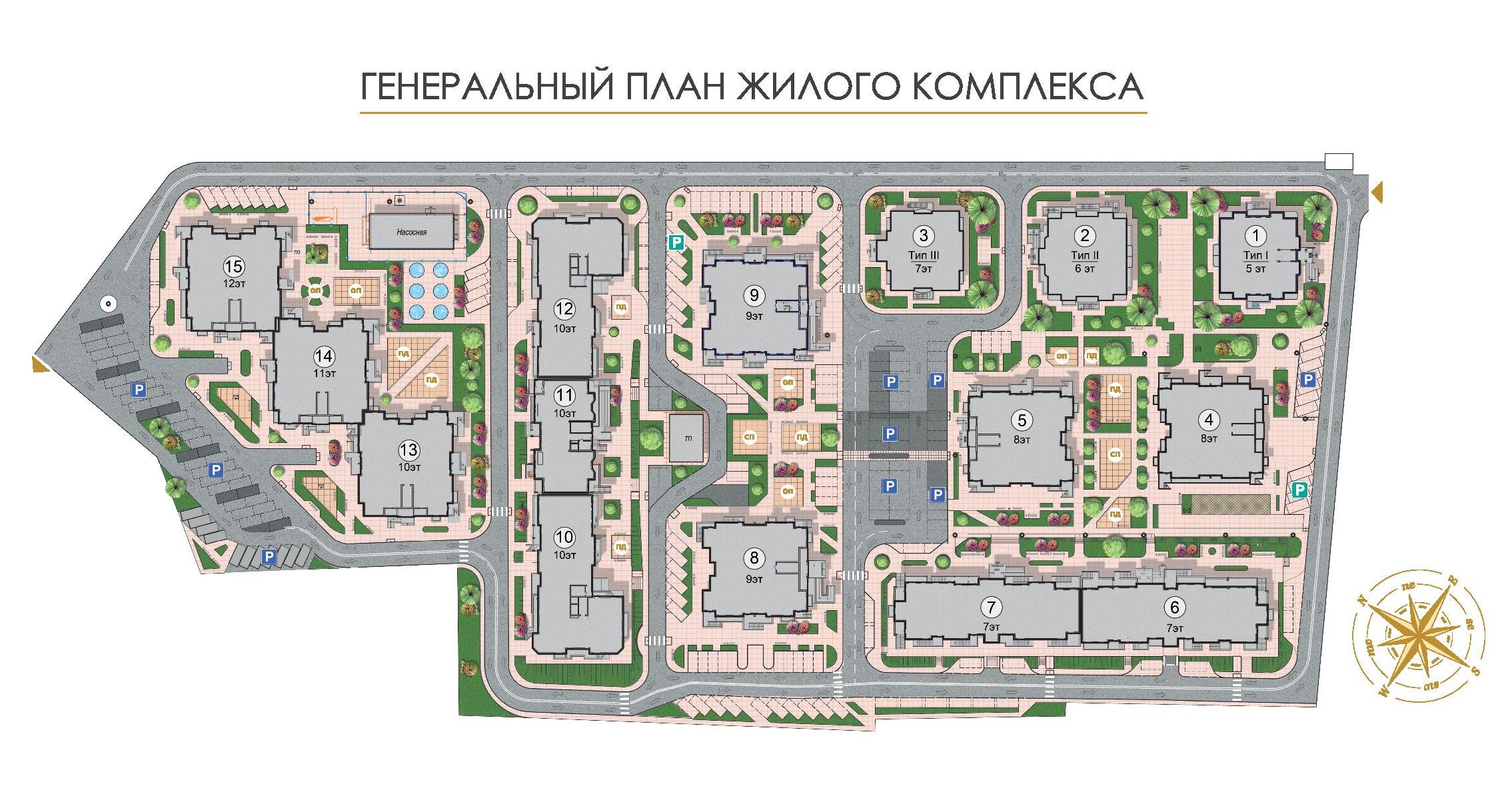 ЖК Золотая эра Дом №6 План застройки жилого комплекса