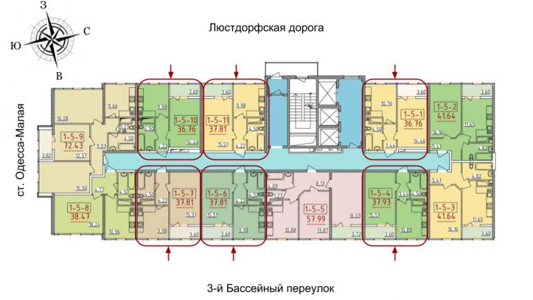 34 жемчужина Однокомнатная 37,81 Расположение на этаже