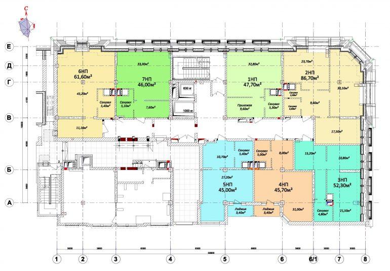 Дом на Осипова / План технического этажа