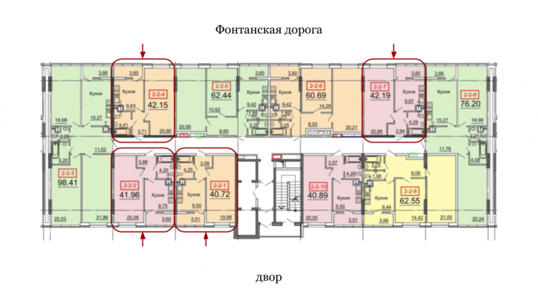 39,97 31 Жемчужина Однокомнатная Расположение на этаже