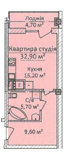ЖК Дом на Еврейской (Чайная фабрика Будова) Студия 54,5 Планировка