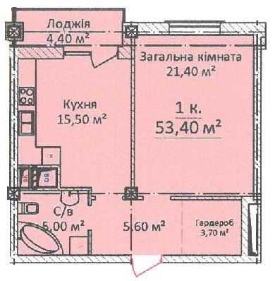 Однокомнатная - ЖК Дом на Еврейской (Чайная фабрика Будова)$74760Площадь:53,4m²