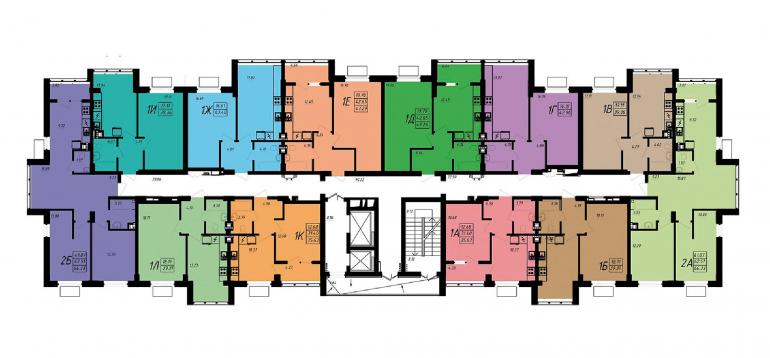 ЖК Маршал Сити / Секция 5 / План типового этажа