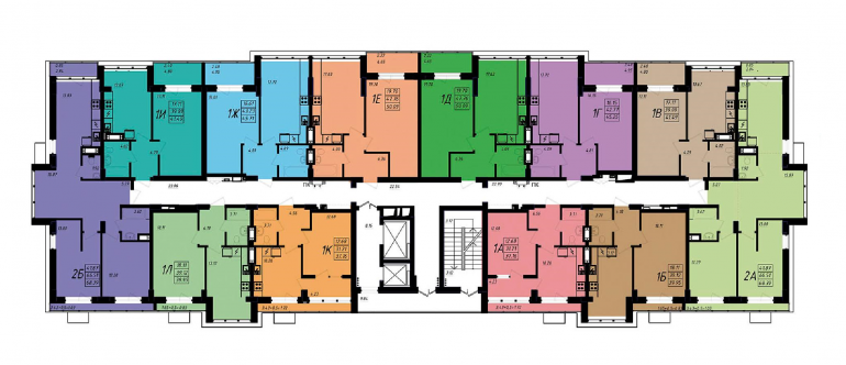 ЖК Маршал Сити / Секция 5 / План 13-го этажа