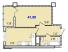 Однокомнатная - ЖК 40 и 41 ЖемчужиныПроданаПлощадь:41,9m²